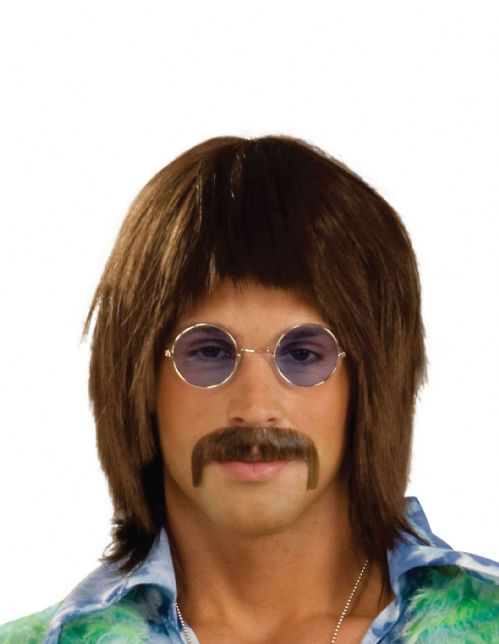 Adults 60s Singer Wig 60s Rock n Roll Fancy Dress